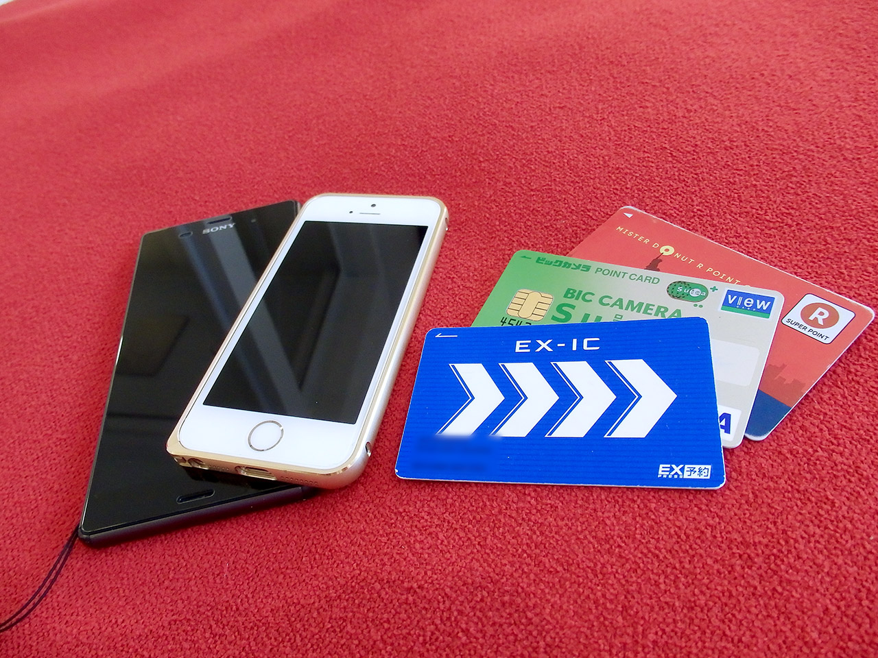 iPhone,Xperia,EX-IC,Suica,R-Point