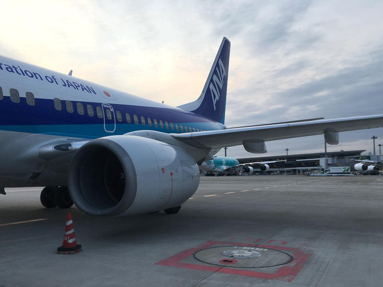 成田空港,滑走路,沖止め,737