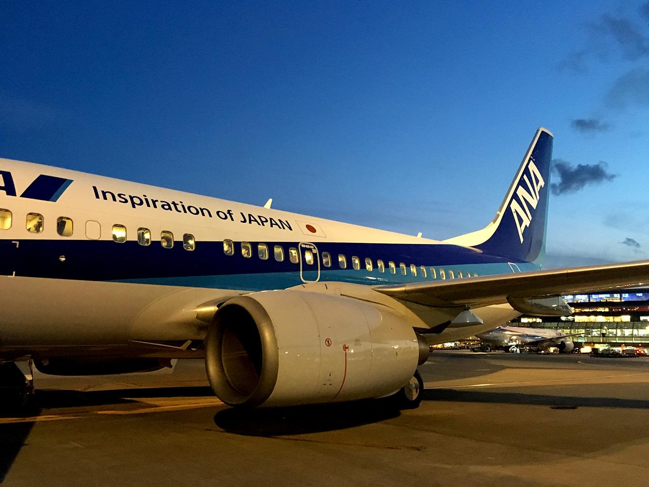 羽田空港,滑走路,誘導路,沖止め,737